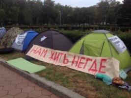Обманутые инвесторы разбили палаточный городок под Одесской ОГА