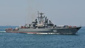 Вблизи острова Джарылгач обнаружен сторожевой корабль РФ