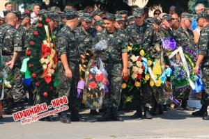 В Первомайске со всеми воинскими почестями похоронили погибшего в зоне АТО десантника