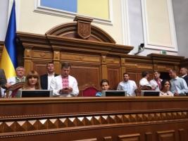 Парламентарии проведут заседание в ВР, невзирая на заблокированную трибуну