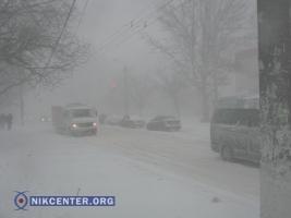 Из-за сильного снегопада Одесса оказалась парализована