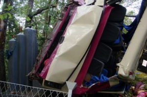 В Крыму с обрыва упал рейсовый автобус, 7 человек погибли