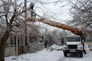 Из-за непогоды в Николаевской области 69 населенных пунктов со вчерашнего дня  остаются без света