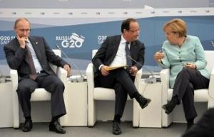 Путин, Меркель и Олланд провели телефонные переговоры и призвали Киев возобновить режим прекращения огня на Украине