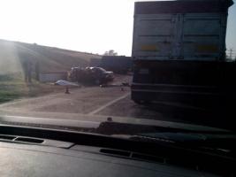 В Херсонской области из-за ДТП возле ГЭС образовалась огромная «пробка» на дороге