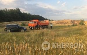В Херсонской области пресечена нелегальная добыча песка в промышленных масштабах