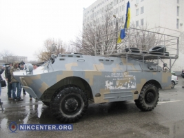 Одесским гаишникам подарили БРДМ