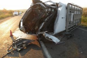 На Одесской трассе маршрутка столкнулась с грузовиком. Шесть пострадавших
