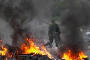 За минувшую ночь боевики 8 раз обстреляли позиции украинских военных – пресс-центр АТО