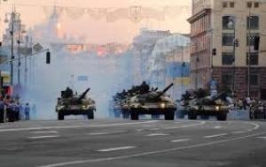 Генеральная репетиция военного парада прошла в Киеве (ВИДЕО)