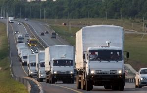 Конвой из 280 белых КамАЗов выдвинулся из Воронежа в направлении Белгорода