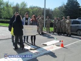 Одесские активисты требовали выплат для бойцов АТО под стенами ОГА