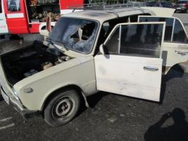 В Николаеве на стоянке загорелся автомобиль