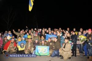 В Николаев из зоны АТО вернулись бойцы батальона «Феникс»