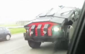 В интернете появилось видео с засекреченным российским бронемобилем