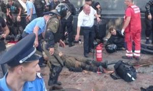 Во время потасковки возле ВР пострадало 50 нацгвардейцев и более двух журналистов
