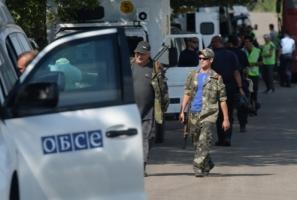 Сепаратисты обстреляли наблюдателей ОБСЕ под Донецком