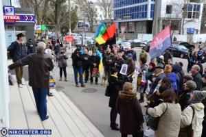 В Херсоне протестовали против политических репрессий. Обещают жечь покрышки. ФОТО, ВИДЕО