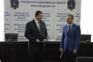 В Николаеве официально представили зампрокурора области (ФОТО)