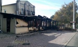 В Херсоне дотла сгорело кафе
