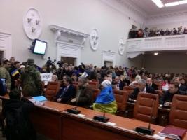 В Запорожье активисты требуют отставки мэра