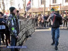В Одессе перекрыли движение маршу протеста против повышения цен на проезд