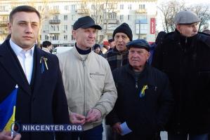 Херсонцы торжественно проводили в зону АТО «киборга» и потребовали убрать Яценюка