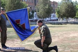 Николаевским нацгвардейцам торжественно вручили боевой флаг (ФОТО)
