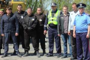 Херсонские милиционеры готовят укрепления