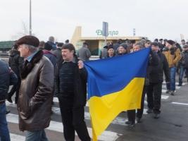 В Херсоне протестующие аграрии перекрыли автотрассу