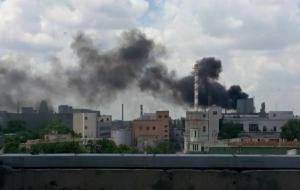 В Одессе тушили пожар на масложировом комбинате