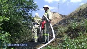 В Очакове пожар на круче разогнал пляжников (ФОТО)