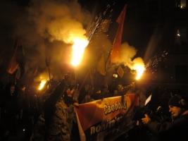 Одесские националисты прошли маршем по центру города в память о событиях под Крутами