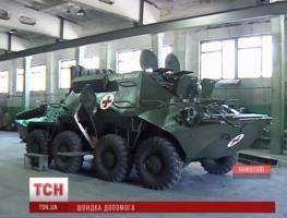 Николаевский бронетанковый завод разработал бронированную карету скорой помощи на базе БТР-70
