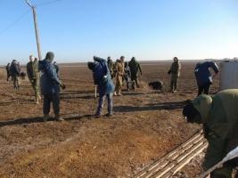 Участники блокады Крыма начали строить фортификационные соружения