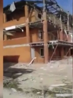 Доброволец из Грузии опубликовал видео о разрушенном террористами Широкино