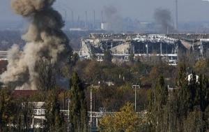 Украинские бойцы отбили ряд атак боевиков в районе донецкого аэропорта, - штаб