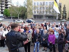 Николаевские «антимайдановцы» митинговали и требовали убрать «бандеровские» блокпосты