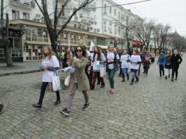 Одесситки прошлись по центру города маршем против насилия