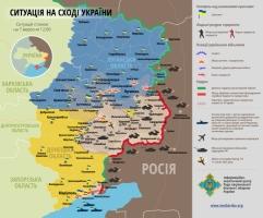 Карта АТО: на Таганрогско-Мариупольском направлении фиксируется активность российских войск