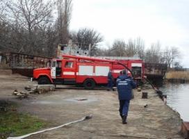 В Николаеве на «Судостроительном заводе им. 61 коммунара» тушили условный пожар