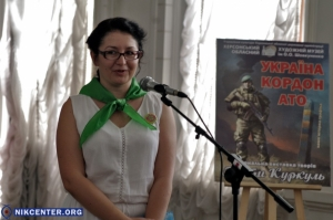 Известная литовская художница подарила херсонским пограничникам свои работы: ФОТО