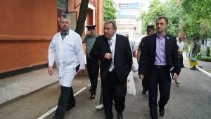 Губернатор Романчук и глава облсовета Креминь посетили военнослужащих раненых во время проведения АТО