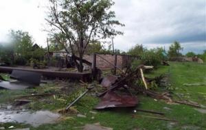 В Луганской области стихия разрушила 25 домов