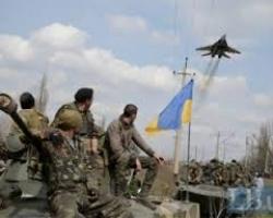 Карта, отображающая ситуацию на востоке Украины за минувшие сутки