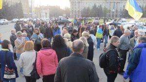 В Николаеве прошел митинг по случаю 2-й годовщины разгона «сепаратистов»