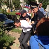 Российского оппозиционера Яшина задержали прямо на встрече с избирателями