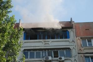 В Николаеве сгорел балкон в девятиэтажном доме