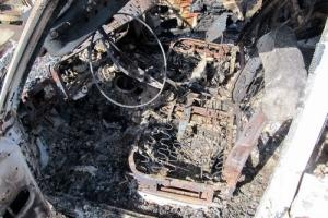 В Херсоне нашли сгоревший автомобиль с телом водителя внутри