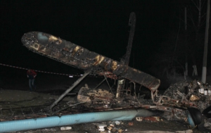 Под Луцком разбился самолет (ФОТО)